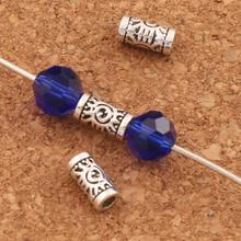 Evil Eye Tube Beads Charm Bead 200pcs Antique Silver Tubes L1796 7x3x3mm Jewelry DIY