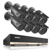 SANNCE Home Security HD 1080N 8CH DVR 8PCS 1 0MP 720P AHD High Resolution CCTV Camera