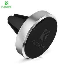 Floveme Магнитная автомобильный держатель телефона Подставка для iPhone 7 6 6 S 5S SE 5 Samsung Xiaomi Air Vent GPS мобильного телефона держатель в автомобиль