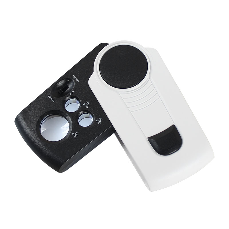 AOMEKIE 30X 35X 55X High-magnification Magnifier Protable Jewelry Appraisal Loupe with LED/UV Luminous Acrylic Optical Lens