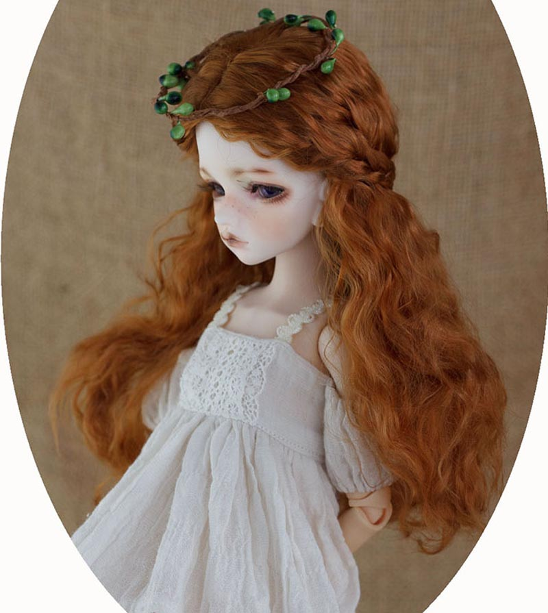 1/8 BJD Wig Super Doll Wig Fashion Long Wavy For BJD Doll Hair Free Shipping 1 3 bjd wig hair super doll bjd wig fashion style doll curly mohair hair wig