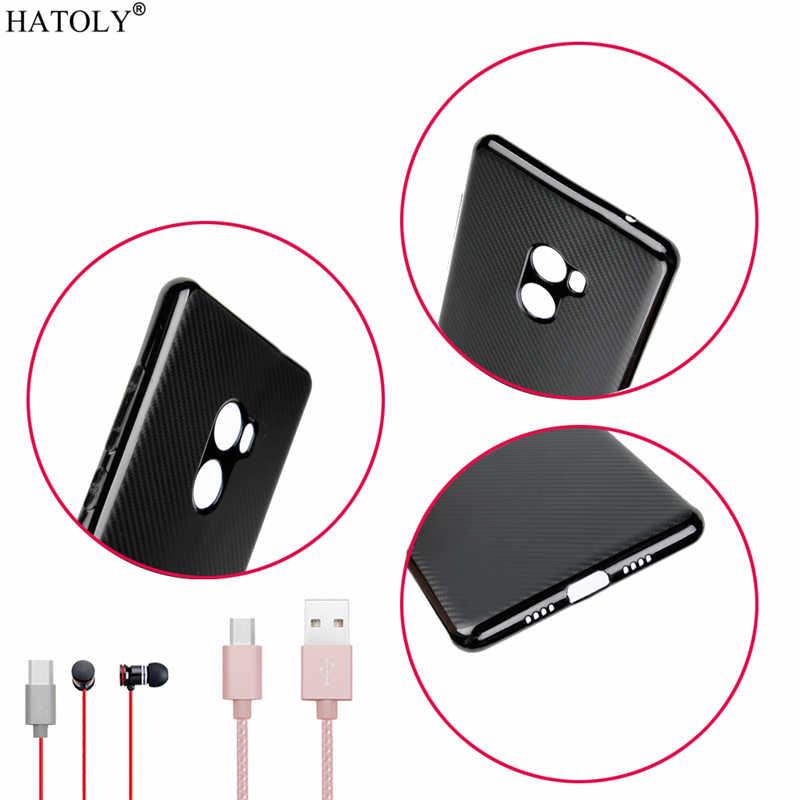 """HATOLY Für Fundas Xiaomi Mi Mix 2 Fall Xiaomi Mi Mix 2 Ultra-dünne, Weiche TPU Carbon Fiber Zurück abdeckung für Xiaomi Mi Mix 2 5.99"""""""