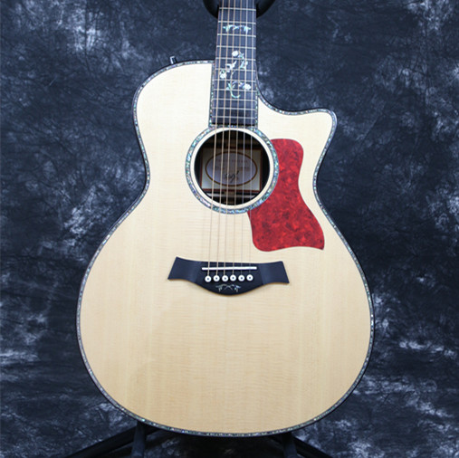 High quality Starshine 39'' Tay acoustic guitar Lor style Grover Tuner solid top ebony fingerboard real abalone inlay