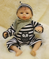 Soft Body Silicone Reborn Boy Baby Doll Toy