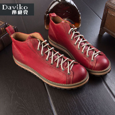 Фото Daviko tooling tidal current male genuine leather martin male shoes high-top shoes fashion popular shoes A38-5