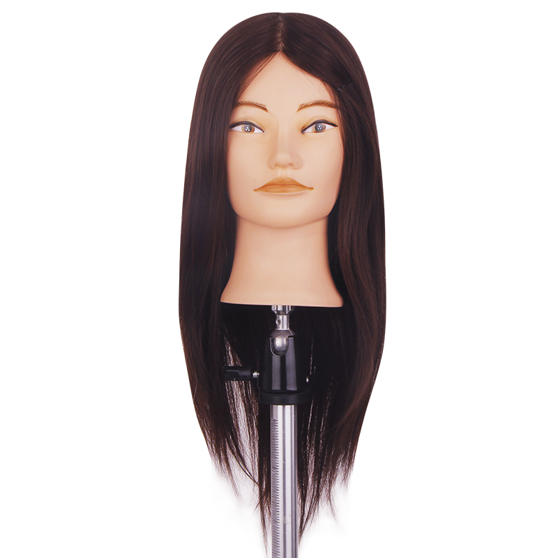 55cm 70% Real Human Hair Mannequin Heads Hair Training Doll Head Hair Styling Mannequins Cosmetology Hairdressing Dolls Head