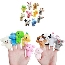10Pcs Family Finger Animal Puppet Play Doll Baby Educational Hand Cartoon Toy