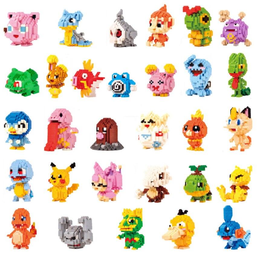 30 modelos LNO diamante Pikachu Mudkip monstruos animales niños bloques educativos de construcción Torchic Cubone modelo Buneary ladrillo #167-in Bloques from Juguetes y pasatiempos    1