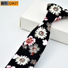 Classic Cotton Mens Ties Fashion Neck 6cm Floral Printed for Men Business Wedding Bow Tie Slim Gravatas