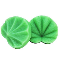 1pair leaf Press mold sugar craft tools flower leaves silicon cake mold cake decorating resin mould polymer clay molds T0039YZ23