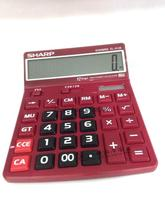 Sharp EL 8128 Calculator Calculator definition big screen color display large buttons engraved adjustment