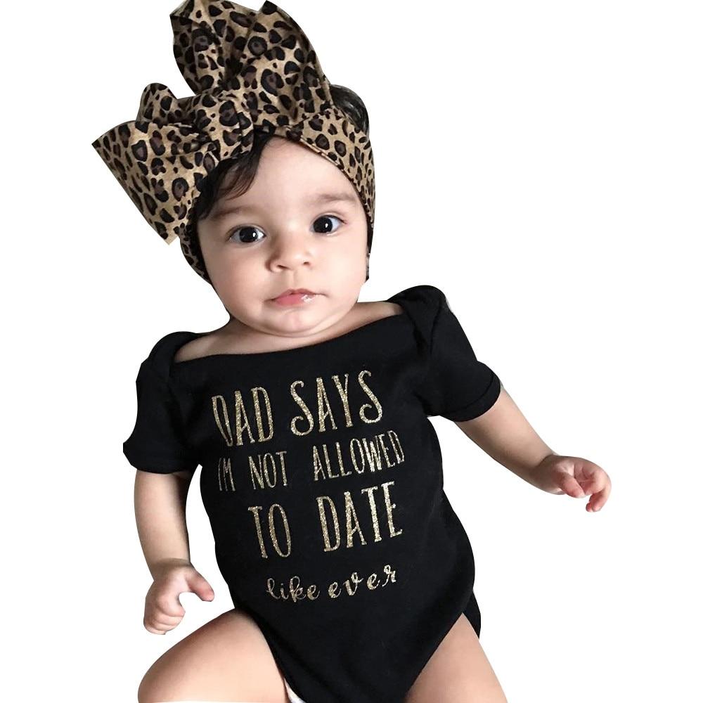 Newborn Infant Baby Boy Romper Bodysuit Jumpsuit Headband Outfits Clothes Set