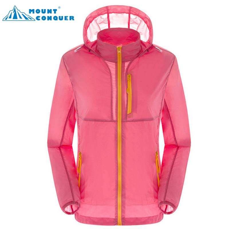 2017 Femei de vară Quick Dry Transparent Hooded Multi-buzunar Coat - Imbracaminte sport si accesorii