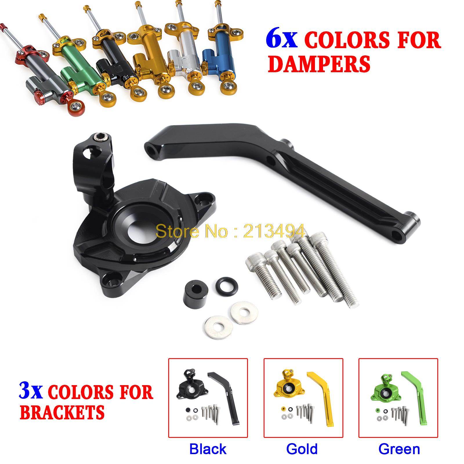 Motorcycle CNC Steering Damper Stabilizer & Bracket fr Kawasaki Z1000/ABS 2014-2017 Not Fit Z1000SXMotorcycle CNC Steering Damper Stabilizer & Bracket fr Kawasaki Z1000/ABS 2014-2017 Not Fit Z1000SX