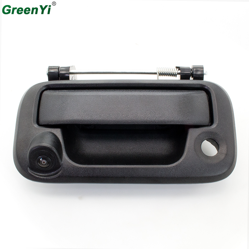 цена на GreenYi Rear View Backup Camera With Tailgate Handle For Ford F150/F250/F350/F450 For Universal Monitors (RCA) Car DVD Radio