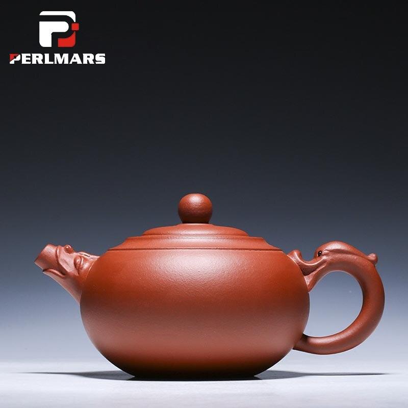 400 ml Authentique Yixing Théière Dragon Pot Pieux Ruyi Thé Pot Maître Main Yixing Chinois Thé Mis En Bonne Santé Argile Pourpre Teaware