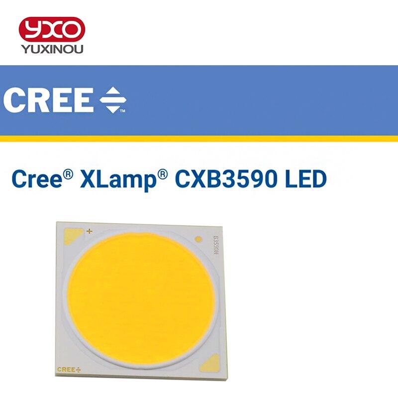 1 pièces Original Cree CXB3590 CXB 3590 led élèvent la lumière 3500 K CD Bin 80 CRI 36 V avec étui en plastique pour les plantes médicales