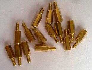 100PCS/LOT 10 + 6 pillars 10 mm high 10MM M3 hexagon copper pillars Spacer 5pcs lot m3 8mm hollow copper pillar hexagonal hollow copper pillars internal thread ve723 p