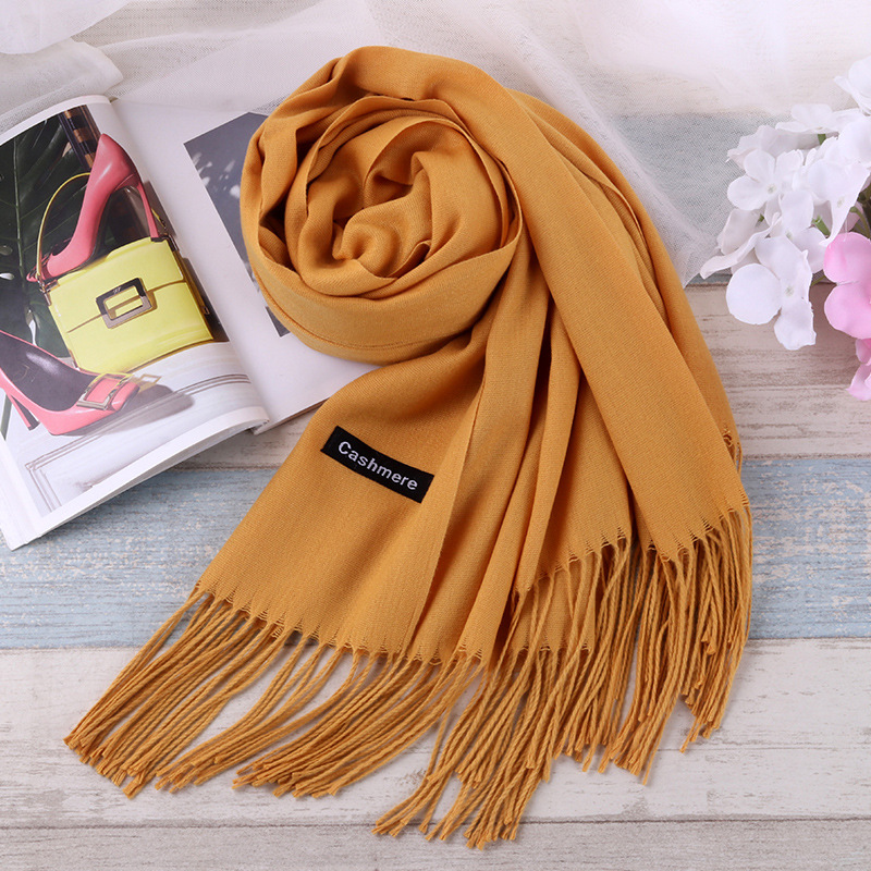 TagerWilen Luxury Brand Scarf Unisex 2018 Female Male Best Quality Wool Cashmere Scarf Pashmina Tassels Women Men Wrap Shawl