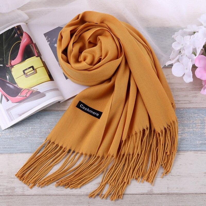 TieSet de marca de lujo bufanda Unisex 2018 mujer hombre mejor calidad bufanda de lana bufanda Pashmina borlas mujeres hombres chal S-11