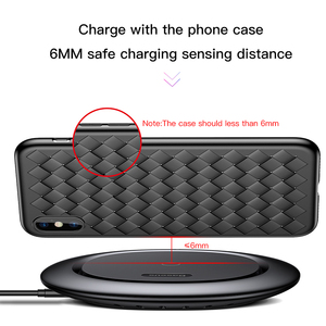 Image 5 - Baseus QI Wireless Charger for iPhone X 8 Samsung Galaxy S9 S8 Mobile Phone Desktop charger carregador sem fio fast charging