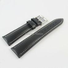 22mm (Buckle18mm) T039417 Alta Calidad Silver Buckle + Black Genuine Bandas Reloj de Cuero Correa Envío gratis