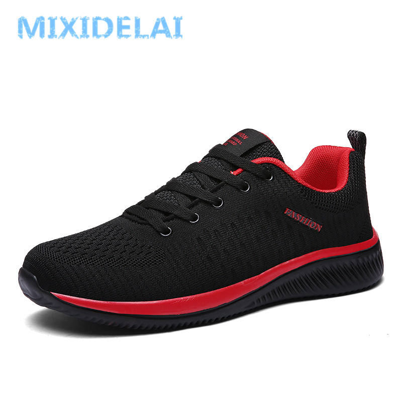 Maille De Marche up Lac Nouvelle Léger Tenis Chaussures Casual Hommes Feminino black Black Respirant Confortable Zapatos Red Sneakers Mixidelai black Green 5qnvwxABB