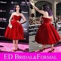 Платья знаменитостей кэти перри бархат пром платье красное винтаж бальное платье коктеила ну вечеринку платье часть я 3D премьера