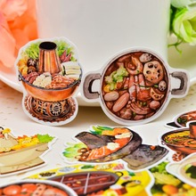 25pcs Self-made China Hotpot Food Sticker Handbook Surrounding Material TN Sticker /Sticker Pack Diary Album Decoration