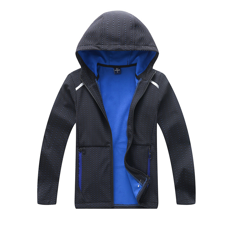 Boys Soft-shell Sporty Jackets Inner Polar Fleece 2019 Spring Autumn Child Kid Clothes Baby Boys Soft Warm Hooded Jacket Outwear
