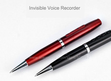 Digital voice recorder pen with audio player function 16GB flash memory USB connector black or red color