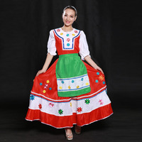 Good Quality Russian Folk Dance Dresses,Female Russia and Ukraine National Costumes Suit Retail Wholesale HF1277
