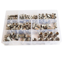 Rivet Nut Metric Threaded Rivnut Nutsert Insert Blind Rivetnuts 304Stainless Steel Set Assortment Kit M3 M4 M5 M6 M8 M10 M12 metric thread m3 m4 m5 m6 m8 m10 m12 304 stainless steel blind insert rivet nut rivnut brand new