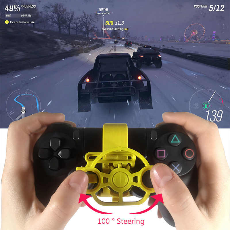 ミニステアリングホイールゲームジョイスティックレースゲームのステアリングホイールシミュレーションシミュレータゲームパッドソニー PlayStation4 PS4