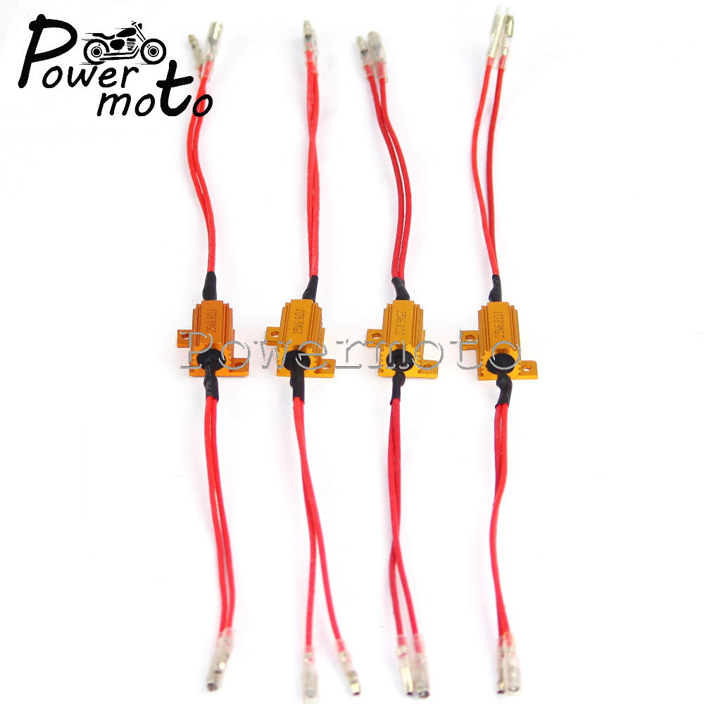 4PCS Universal Motorcycle Turn Signal Light LED 12V 25W Load Resistor Power Resistance Indicator Flasher Rate Controller
