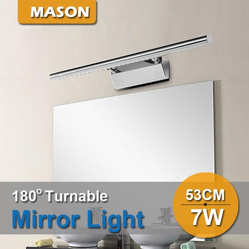dressing table lighting. stainless steel 7w 53cm waterproof modern wall light luminaire dressing table led badroom mirror lights lighting h