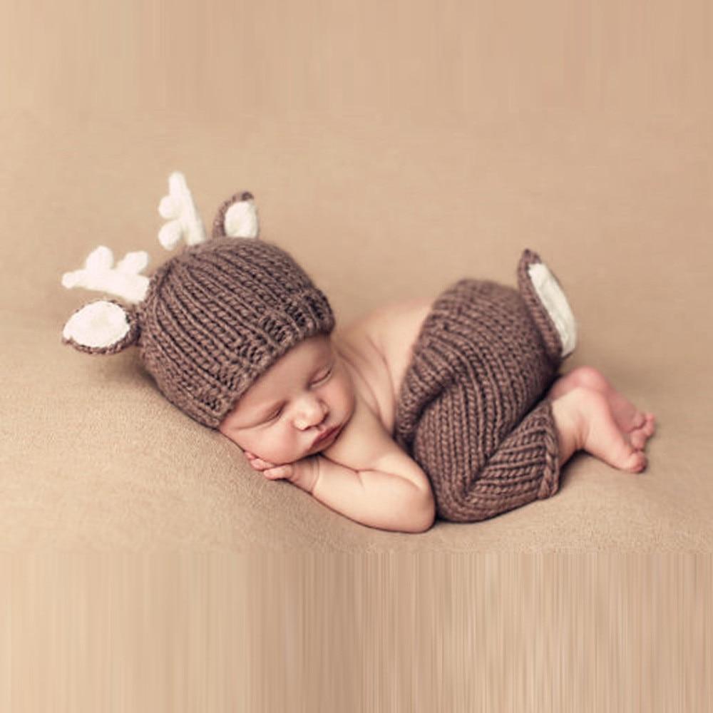 Amazing! Heißer Fotografia Baby Junge Zubehör Nette Cartoon Neugeborenen Baby Kleidung Set 100% Hand Stricken Neugeborenen Fotografie Requisiten