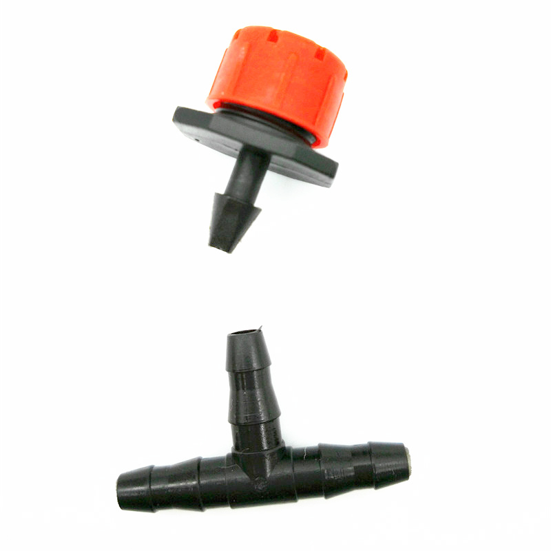 100 Sets(200 PCS) Wholesale 8 Hole Nozzle Drip Connection Links Cooling Equipment Garden Facilities Drip Irrigation System