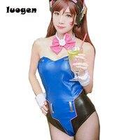 Game D Va Cosplay Costume Sexy Women S Bunny Uniform Ribbit Costume DVA Fan Art Costume