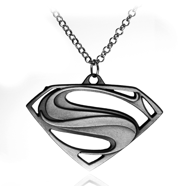 Fashion Trend Jewelry High Quality Superman Symbol Pendant Necklaces