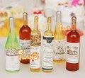 6 Бутылки Вина для 1:12 Масштаб Dollhouse Miniatures питание Пить