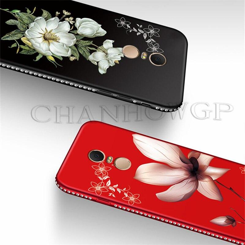 3D Relief Flower Matte Case For Xiaomi Mi 8 SE A1 A2 Redmi 6 6A 5 Plus Note 5 5A Note 4 4X 3 Pro Global Diamond Glitter Cover