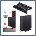 Nave espacial Multifunción PS4 Pro Soporte Soporte Holder + Ventilador 2 ventiladores del Enfriador Vertical + 3 HUB 2.0 Puertos USB Para PS4 Pro PS4PRO