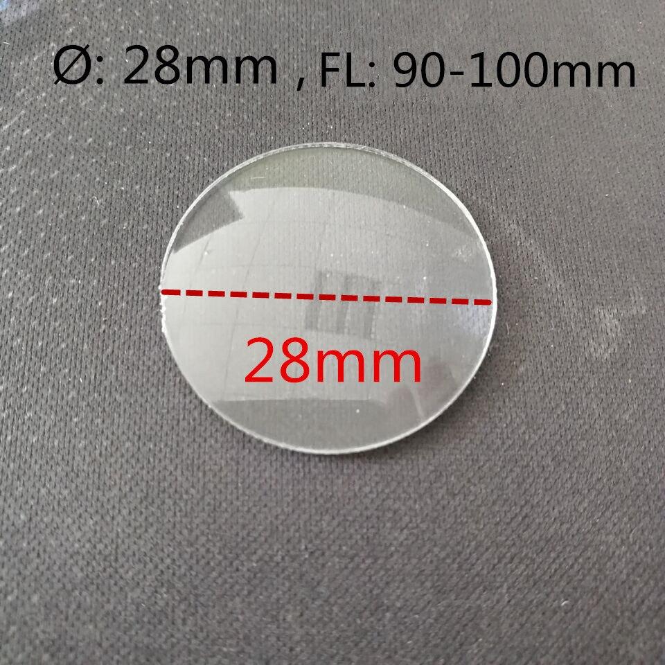 平凸アクリルレンズ直径 28 ミリメートル焦点距離 90 100 ミリメートル  グループ上の ツール からの レンズ の中 1