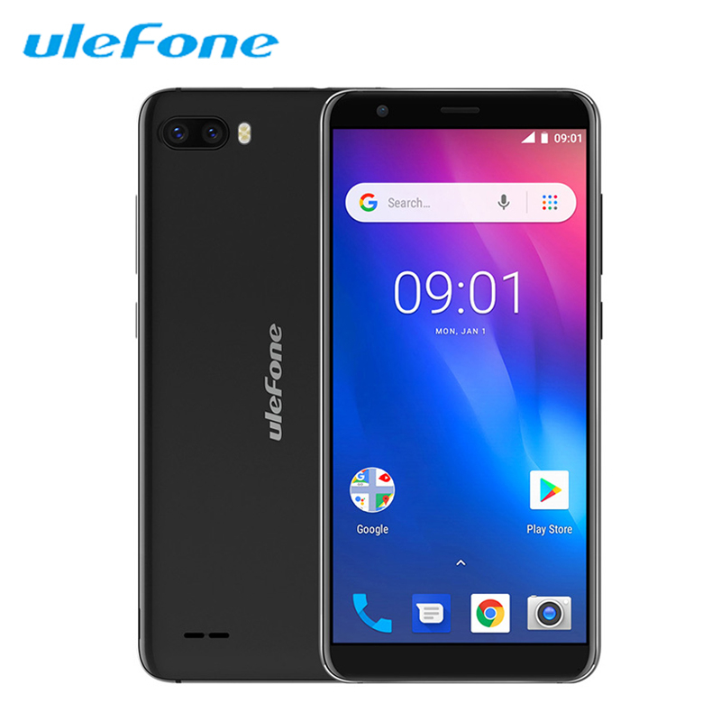 Ulefone S1 Mobile Phone Android 8.1 5.5 inch 18:9 MTK6580 Quad Core 1GB RAM 8GB ROM 8MP+5MP Rear Dual Camera 3G Sim Smartphone