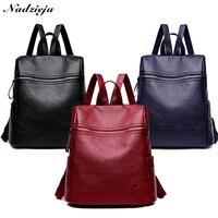New Women Backpack School for Teenage Girls Soft Leather Back bags Large Capacity Backpack Women's Travel Backpacks Mochila
