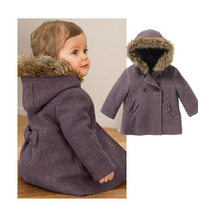 Online Buy Wholesale girl winter purple coat from China girl ...