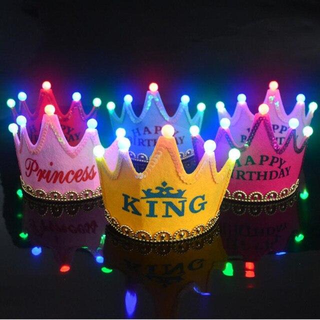 Geburtstag Hut Kappe Licht Krone Prinz Und Prinzessin Krone