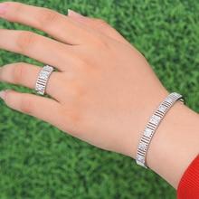 SisCathy Brand New Luxury Cubic Zirconia Open Bangle Bracelet/Ring Jewelry Sets For Women Nigerian Dubai Wedding Jewelry Sets цена в Москве и Питере