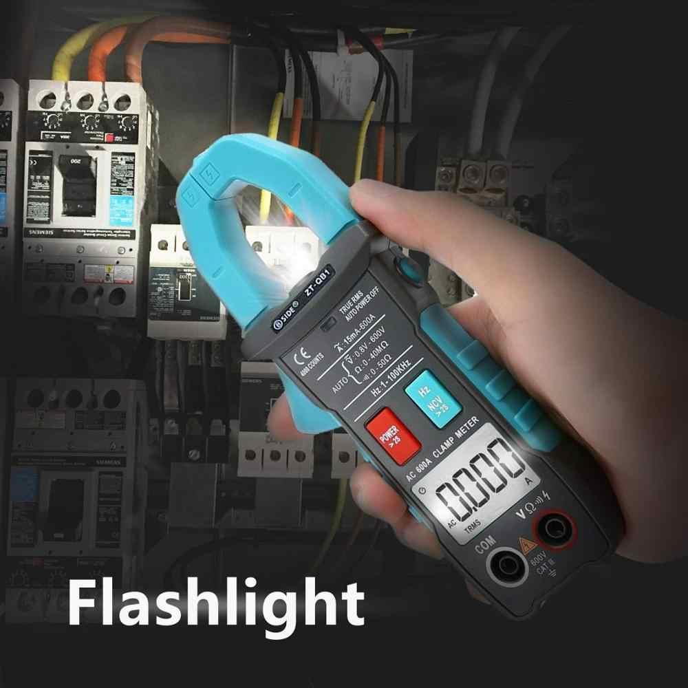 Bside 600A Kẹp Kỹ Thuật Số Đồng Hồ Đo Vạn Năng Inrush Hiện Tại True RMS Tự Động Khoảng 4000 Số Đếm Điện Áp NCV Chống Xước Có Đèn Pin